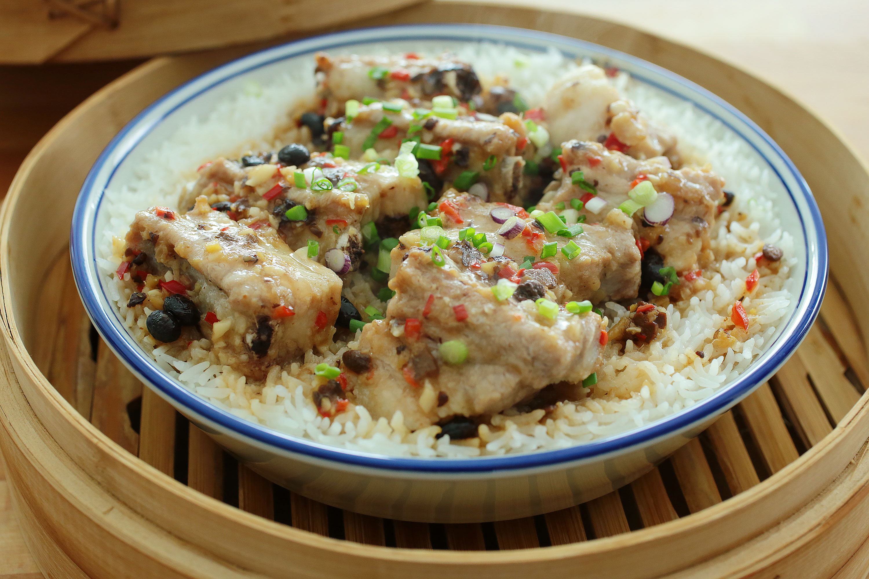 Bamboo Steamed Pork Ribs Rice