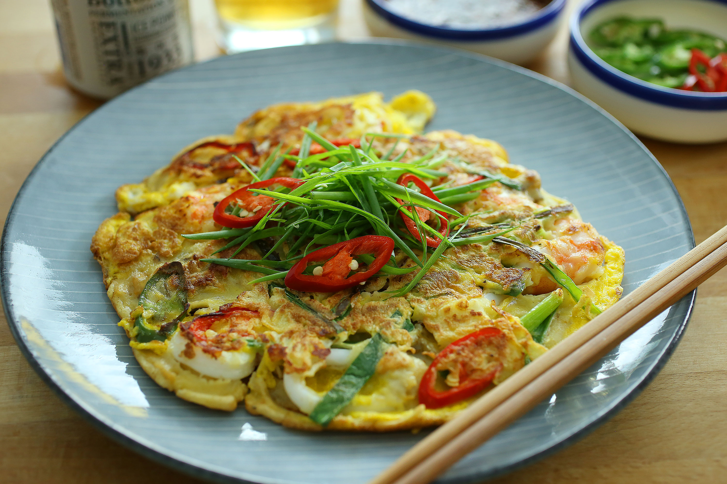 Korean Seafood Pancake - 韩式海鲜煎饼