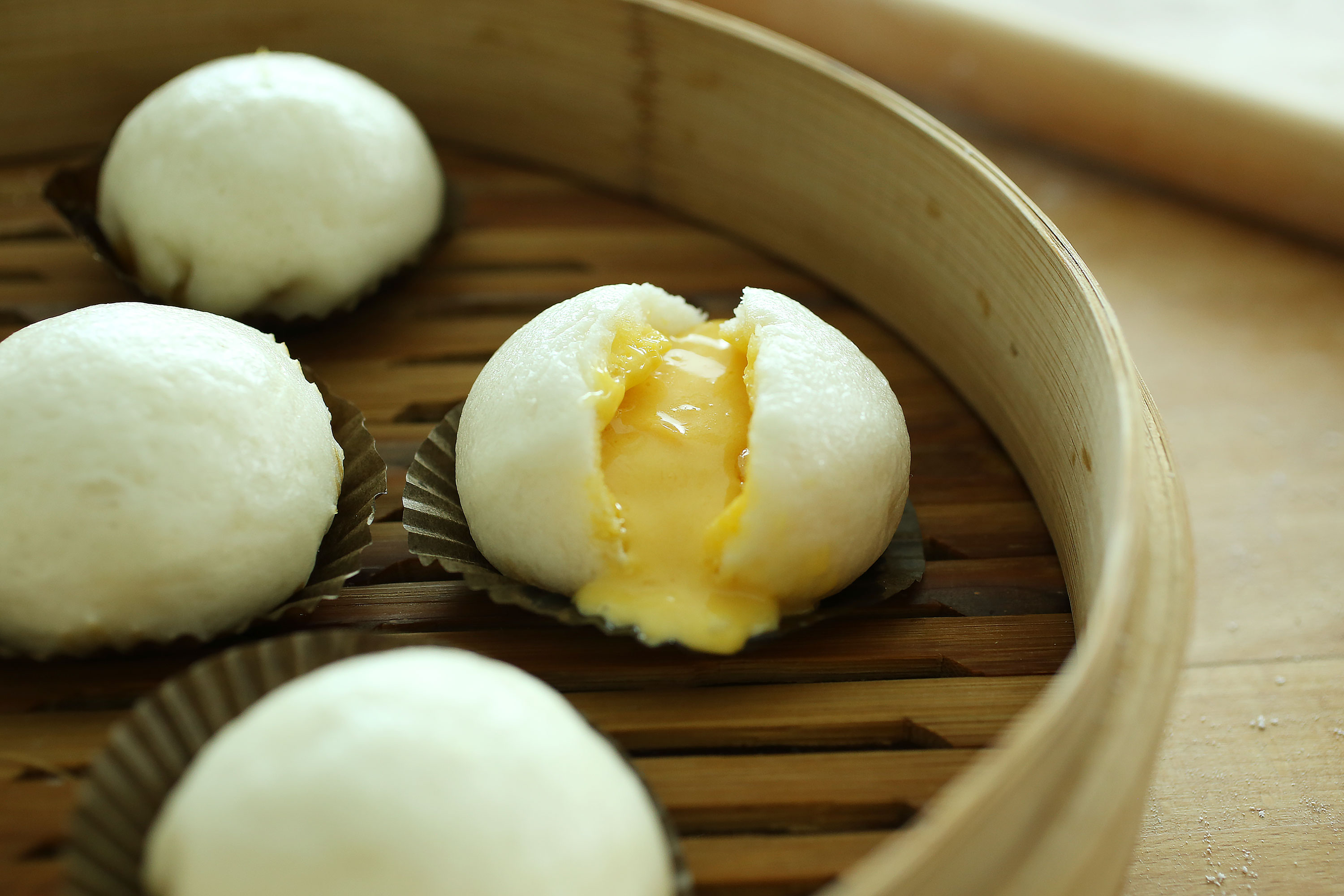Salted Egg Custard Steamed Buns - 黃金流沙包