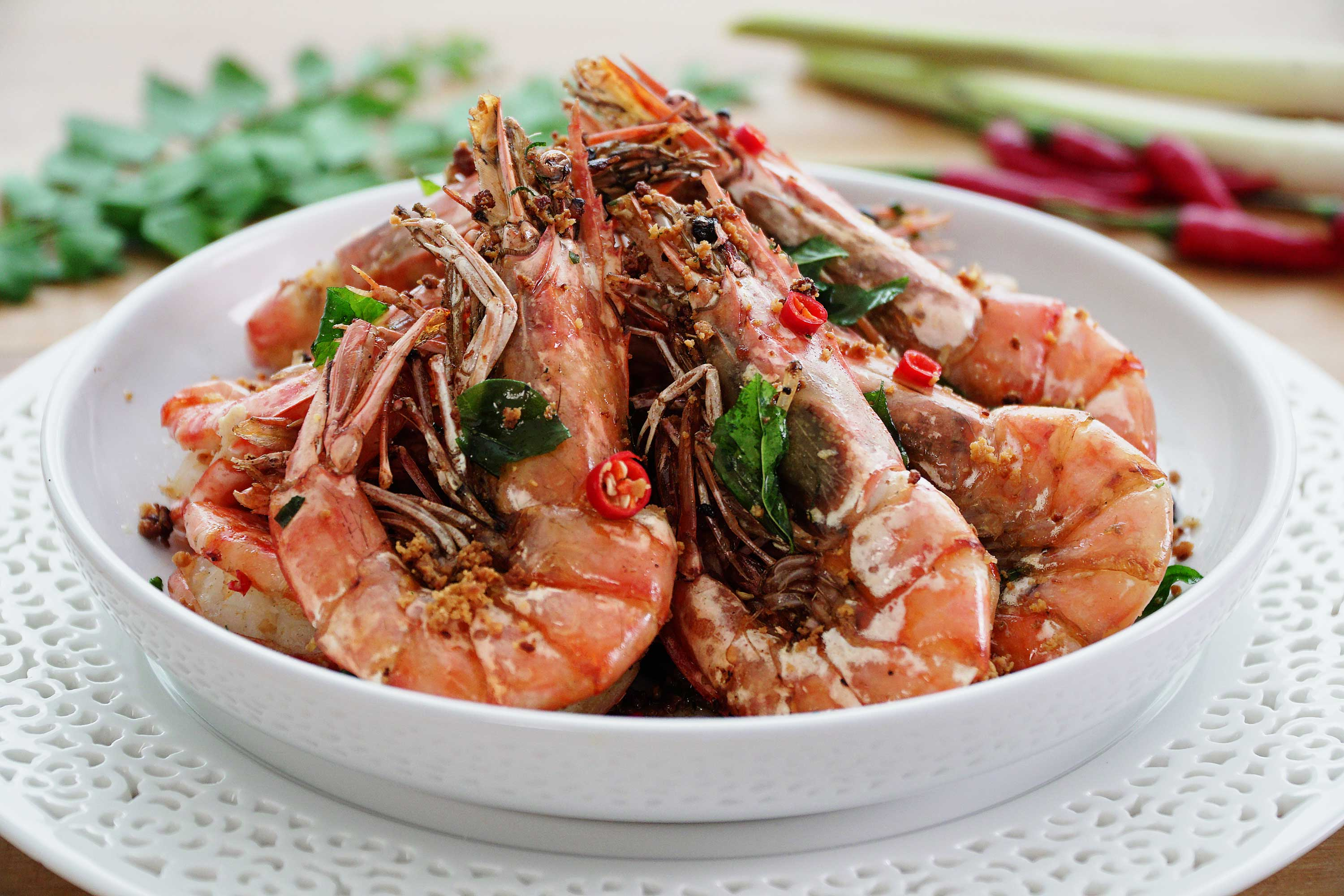 Lemongrass Butter Prawns - 香茅牛油虾