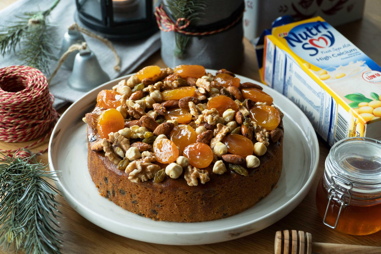 Soya Milk Honey Fruit Cake - 豆浆蜂蜜干果蛋糕