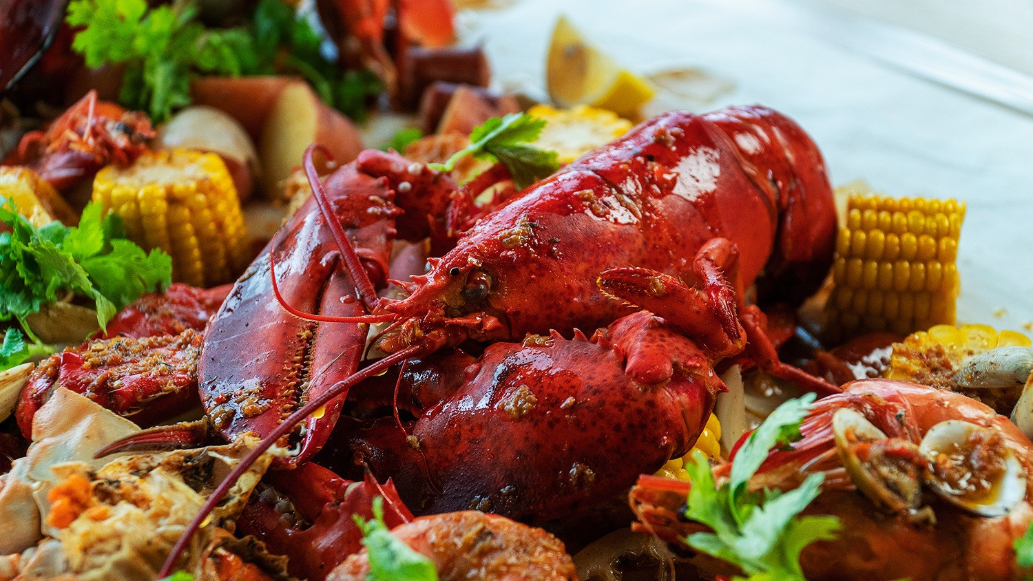 Seafood Boil with Chilli Butter Sauce